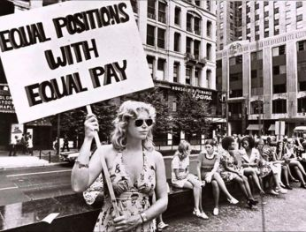 women's rights for equal pay sign