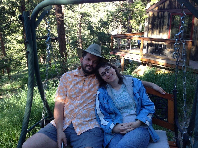 Troy & I in Estes Park:Drake, CO June 2017