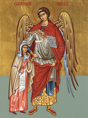 Orthodox guardian angel for women