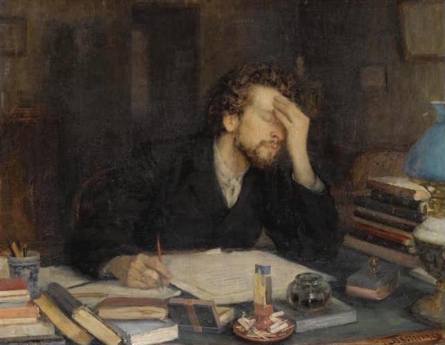painting of author stuck