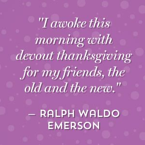 rw emerson quote on thankful to friends