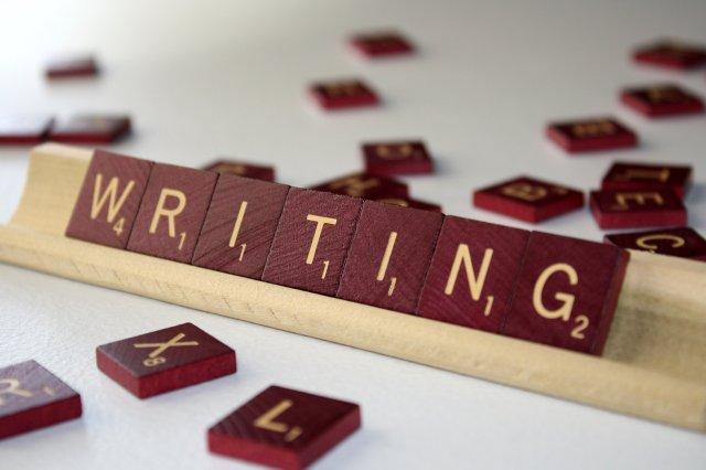 writing scrabble blocks