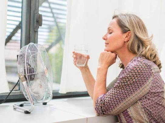 menopause fan and water pic