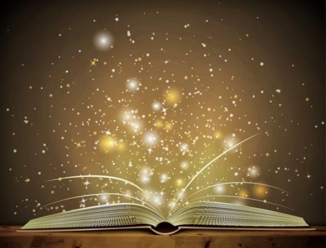 sparkly book