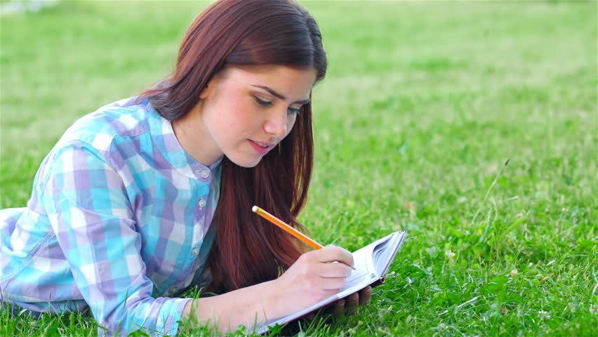 writing on the grass