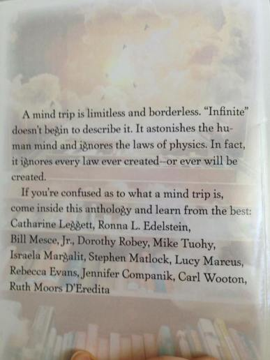back cover of anthology with my story!