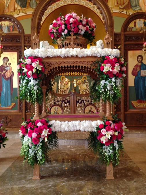 kouvouklion Annunciation GOC Holy Week 2018