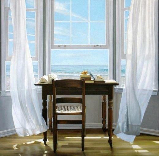 desk and windows