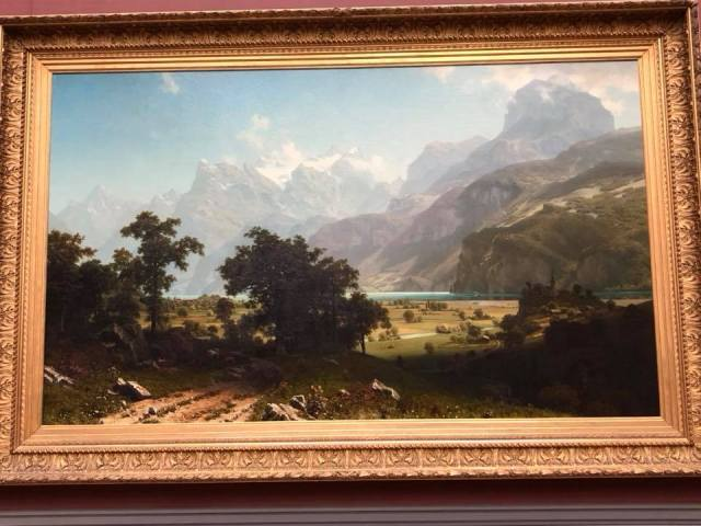 Bierstadt painting lake Lucerne July 8 2018