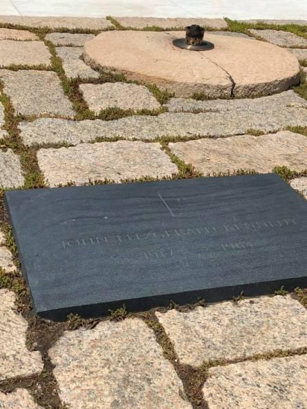 JFK grave July 9 2018