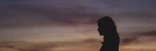silhouette of woman for anxiety blog post