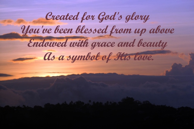 God's love and for his glory