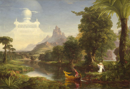 thomas cole voyage of life youth painting