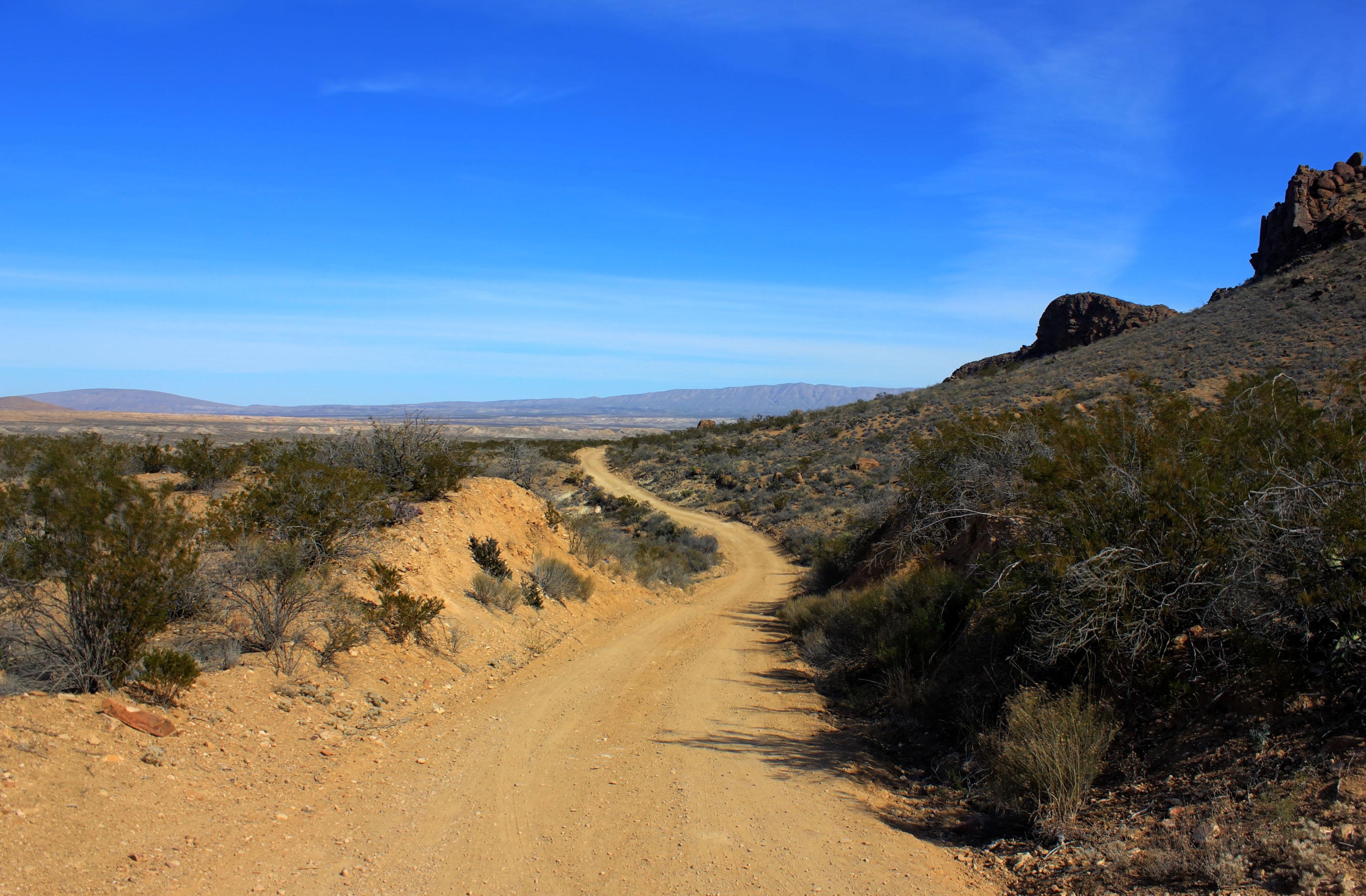 texas big bend dirt path