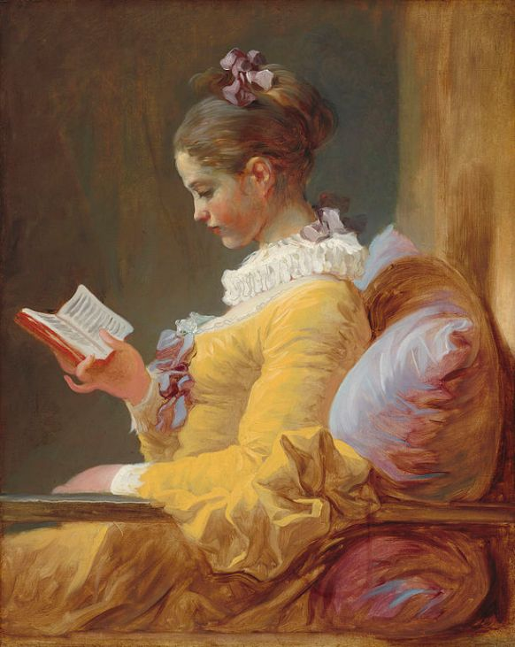 Fragonard painting of woman reading