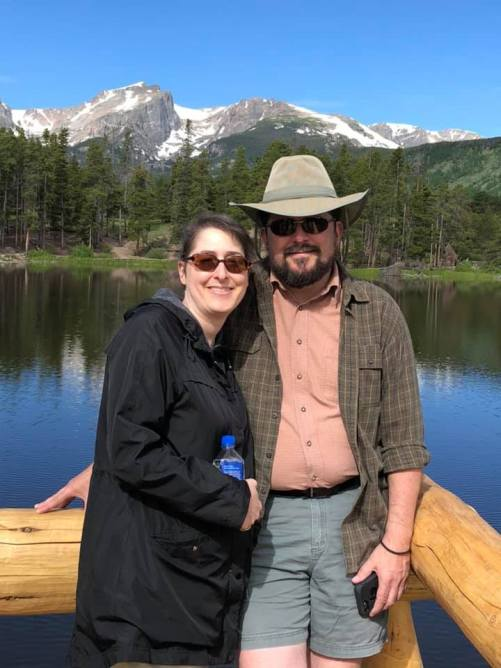 Troy and I at Sprague Lake RMNP July 2019