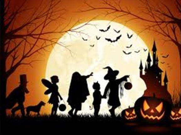 Halloween cartoon silhouette pic