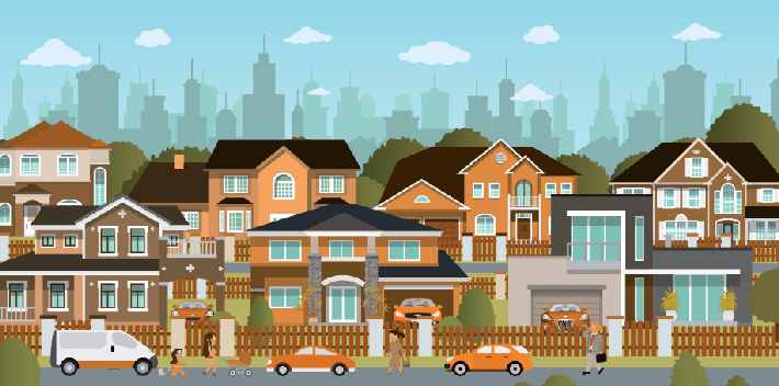 suburb neighborhood clip art