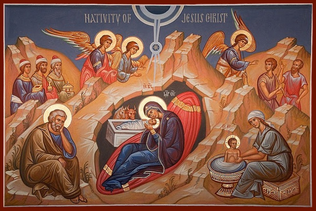 nativity icon card