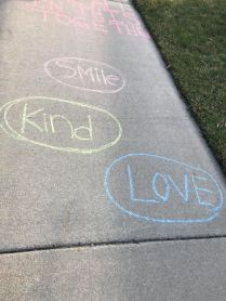 Apr 3 2020 chalk message smile kind love