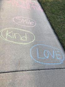Apr 3 2020 chalk message smile kind love