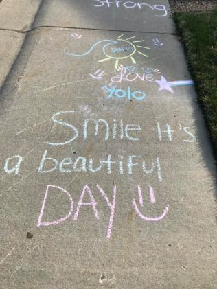 Apr 4 2020 chalk message smile its beautiful day