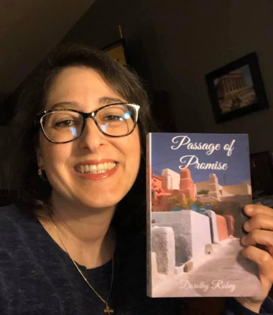 Me with my book Passage of Promise April 1 2020